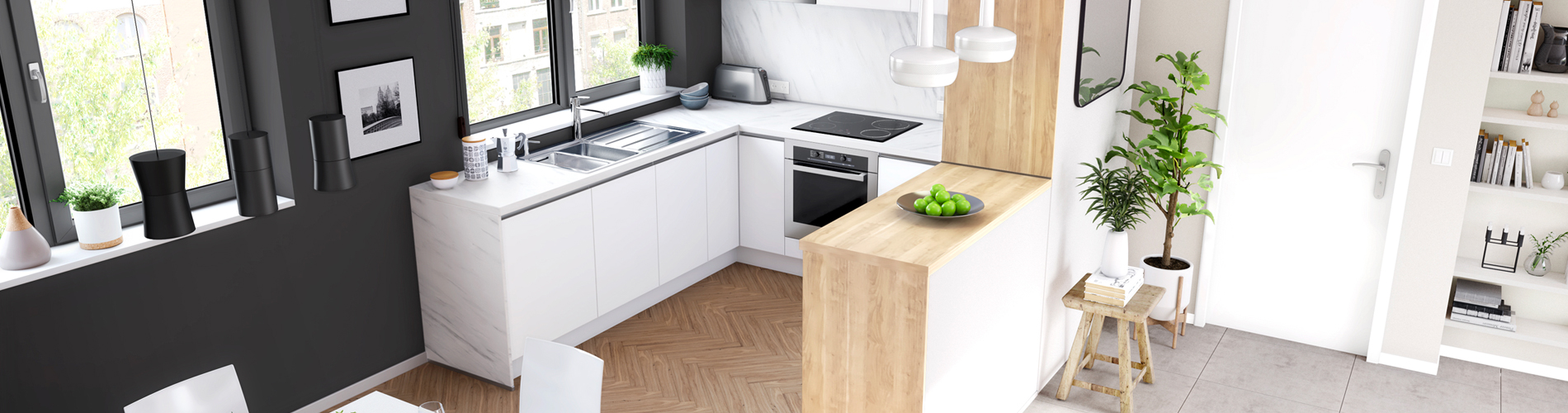 Cuisine Équipée Dans Petit Espace petites cuisines | Èggo | cuisine pour petits espaces