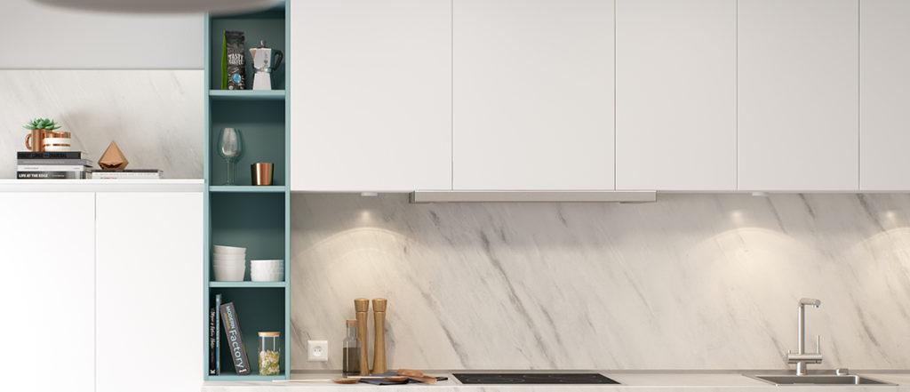 le grand retour du marbre en cuisine. Chic, minimaliste et précieux