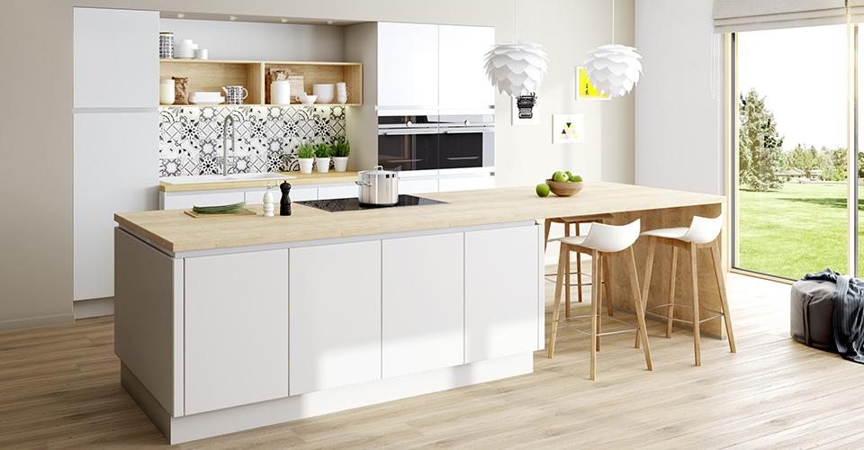 Nouveau Une cuisine blanche aux avantages nombreux - Eggo JE-94