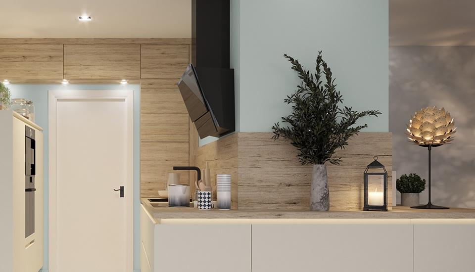 Le blanc, et notamment le blanc mat, est un coloris apprécié, combiné avec du bois, cela donne un aspect chaleureux.